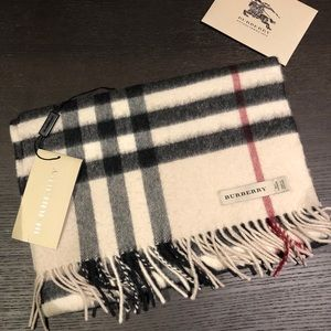 Burberry large check scarf